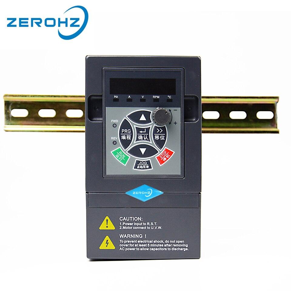 Przemiennik częstotliwości VFD 220V 0.75KW/1.5KW 1 faza wejścia i trzy wyjścia 50 hz/60 hz napęd ac dla silnika przetwornica częstotliwości