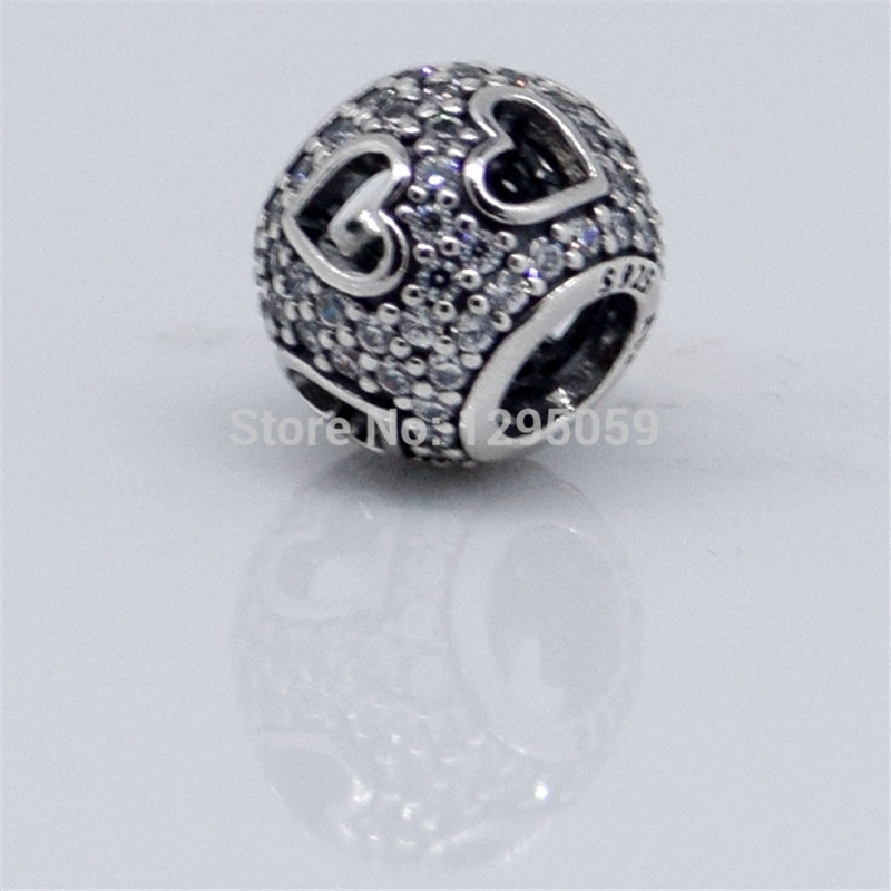 CKK Beads 925 Sterling Silver Tumbling HeartsCharms for Women DIY Fits Bracelet Necklace Beads for Jewelry Making in Beads from Jewelry Accessories