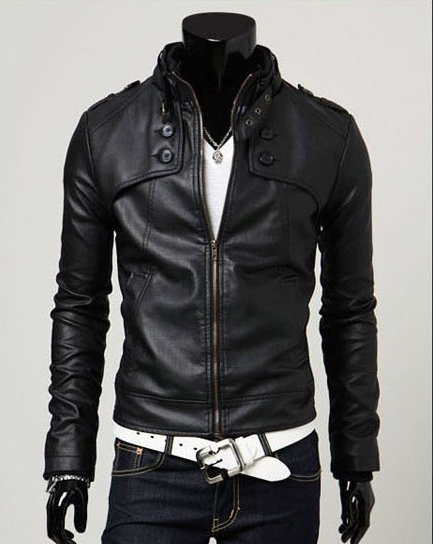 2019 New Fashion Men Leather Coat Motorcycle Leather Jackets Male Slim Casual Coats Man Outerwear Stand Collar Jackets