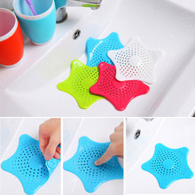 Pentagram Starfish Silicone Sewer Filter Kitchen Drains Sink Strainers Drain Hair Colander Bathroom Cleaning Tool