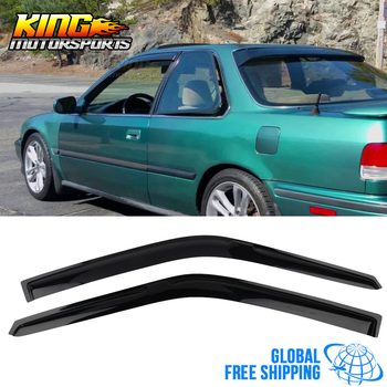 Fit For 90-93 Honda Accord Coupe Acrylic Window Visors 2Pc Set Global Free Shipping