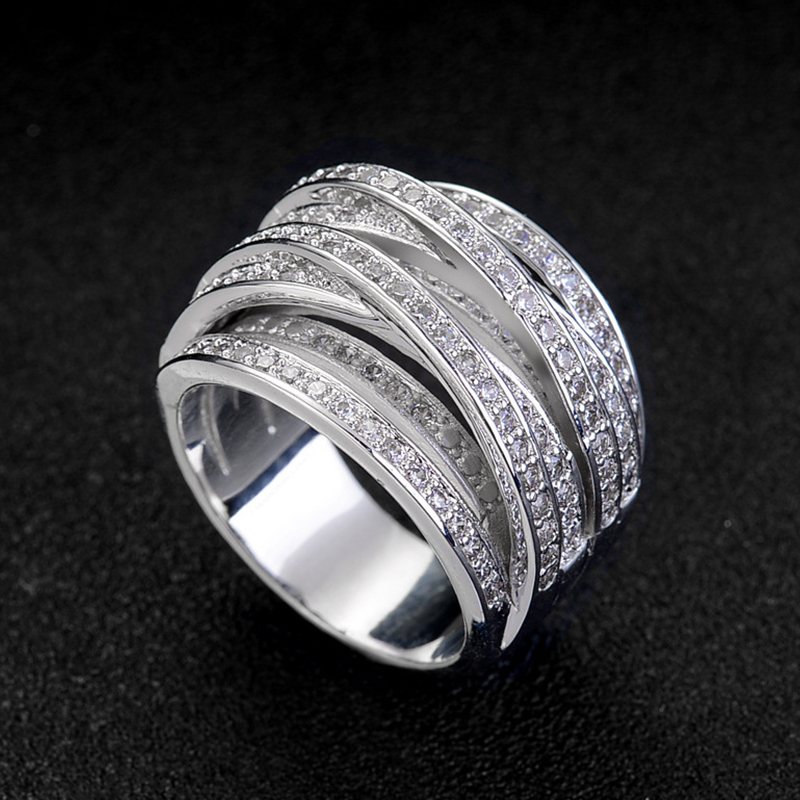 2019 Vintage Love Ring Jewellery Multi Layer Winding Rings For Women Gothic Ring Stone Finger Accessories  Promise Ring D30