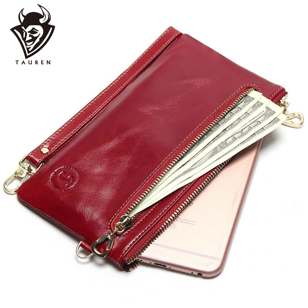 2019 New Women's Slim Wallets Mini Small Handbag Leather Simple Leather Hand Grasping Coin Purse Mobile Phone Packet