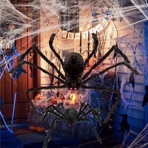 Spider Halloween Decoration Haunted House Prop Indoor Outdoor Black Giant 75CM(China)
