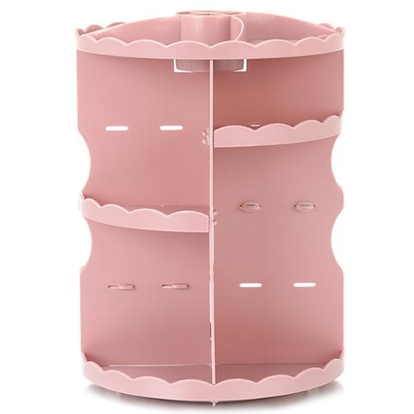 Boîte de rangement écologique de grande capacité de support de cosmétiques de rotation de table ronde Simple moderne pour stocker le petit article