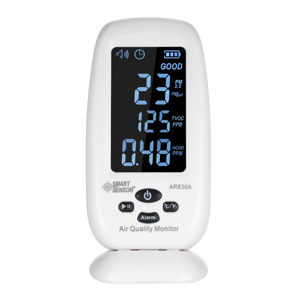 SMART SENSOR 5-in-1 Digital Air Quality Monitor with Temperature Humidity PM2.5 Air Quality Monitoring Tool IndoorSMART SENSOR 5-in-1 Digital Air Quality Monitor with Temperature Humidity PM2.5 Air Quality Monitoring Tool Indoor