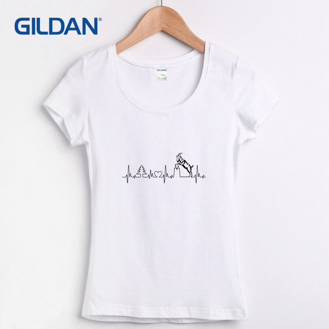 470e3bbf4269 New T Shirts Women Short Sleeve Cool T-shirt Womens Funny My Cologne  Heartbeat - Goat and Twin Towers Euro Size