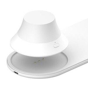 Image 5 - Xiaomi Yeelight Wireless Nacht Licht Ladegerät mit LED Magnetische Anziehung Schnelle Lade Für iPhone Samsung Huawei Xiaomi Telefon
