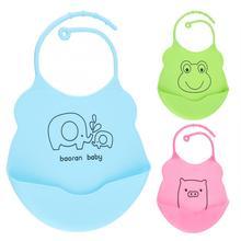 Водостойкие Детские Малыши силиконовые детские нагрудники трехмерная еда капот дети регулируемые передник для кормления цветной платок-Слюнявчик
