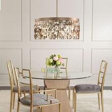 Современный Vintage Hanglamp French Gold блестками кисточкой круглый Подвесные огни скандинавский модный экспорт Светодиодные лампы Освещение