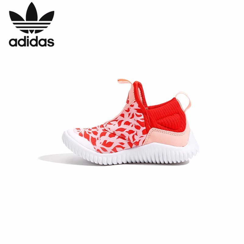 Adidas Kids Quality Goods 2018 Autumn Winter New Pattern Small Hippocampus Soft Bottom One Pedal Children Sneakers#B27994