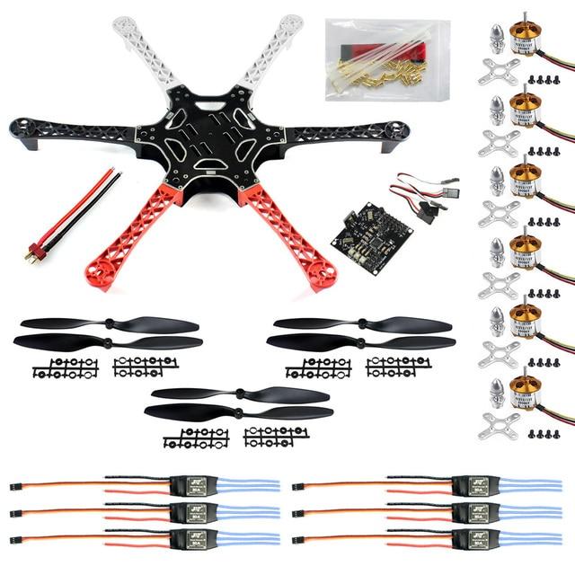 US $91 52 29% OFF F05114 C HexaCopter ARF Drone F550 Hex Rotor FlameWheel  Kit + KK 2 3 Flight Controller ESC Motor Propeller + FS-in Parts &