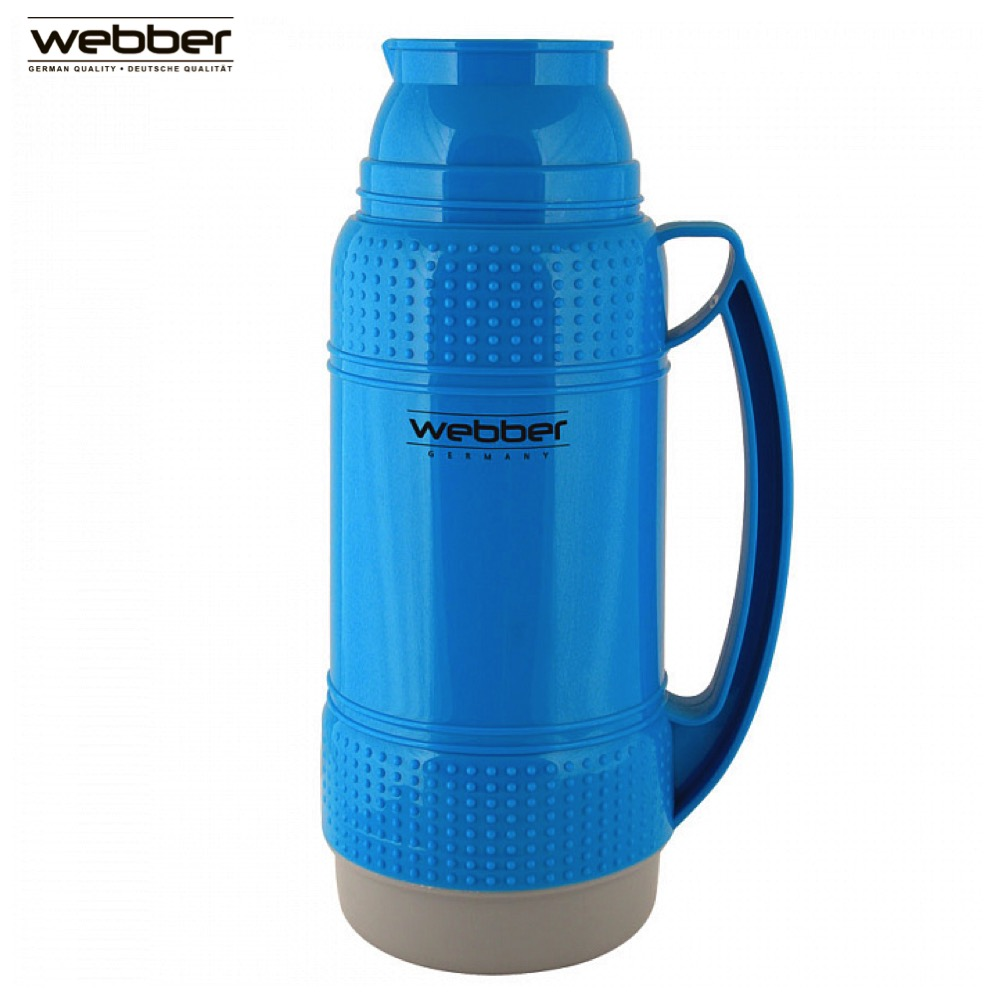 Vacuum Flasks & Thermoses Webber 31001/4S Blue thermomug thermos for tea Cup stainless steel water mug food flask