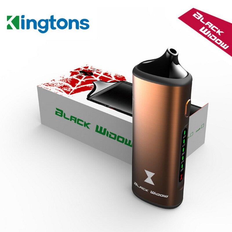 Kingtons Black Widow Dry Herb Vaporizer BLK Herb stick chamber Vaporizer device glass mouthpiece electronic cigarette Vape kit