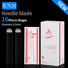 500PCS U-Shape 16 pin Microblading Needle Eyebrow Tattoo Blade For Permanent Makeup Manual Pen 3D Eyebrow Embroidery