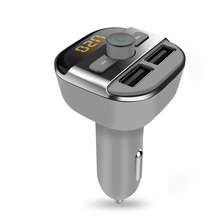 BT20 USB Car Charger For Smart Phone Bluetooth FM Transmitter Hand-free Radio Adapter LED Display MP3 Player Dual USB Charger dynamo hand cranked battery free 3 led flashlights with cell phone charger radio and alarm