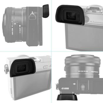 2 unids/set de cubierta de protección Eyecup reemplazo visor Protector de silicona de la Cámara de la caja del ocular para Nikon D7000/D90/D600 #0121