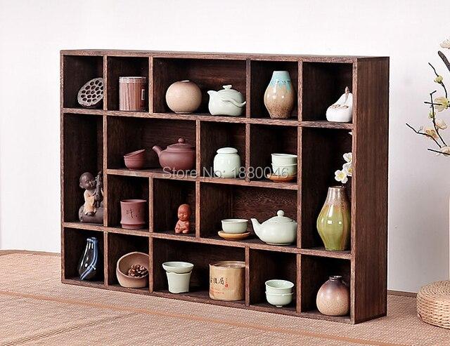 Free shipping Burnt Paulownia Wood Tea Trays solid wood teapot shelf Tea Saucer Chinese Kung Fu tea pot Crafts display tray