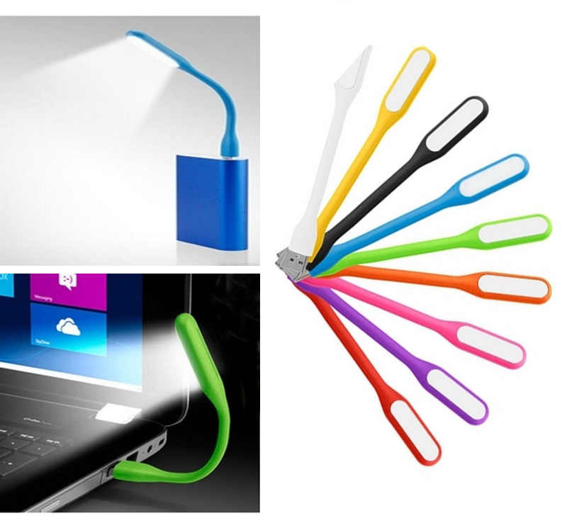 Bendable Mini USB  LED Lamp 5V 1.2W Book Light For Power Bank & Notebook & Computer & Laptop USB Night Lights