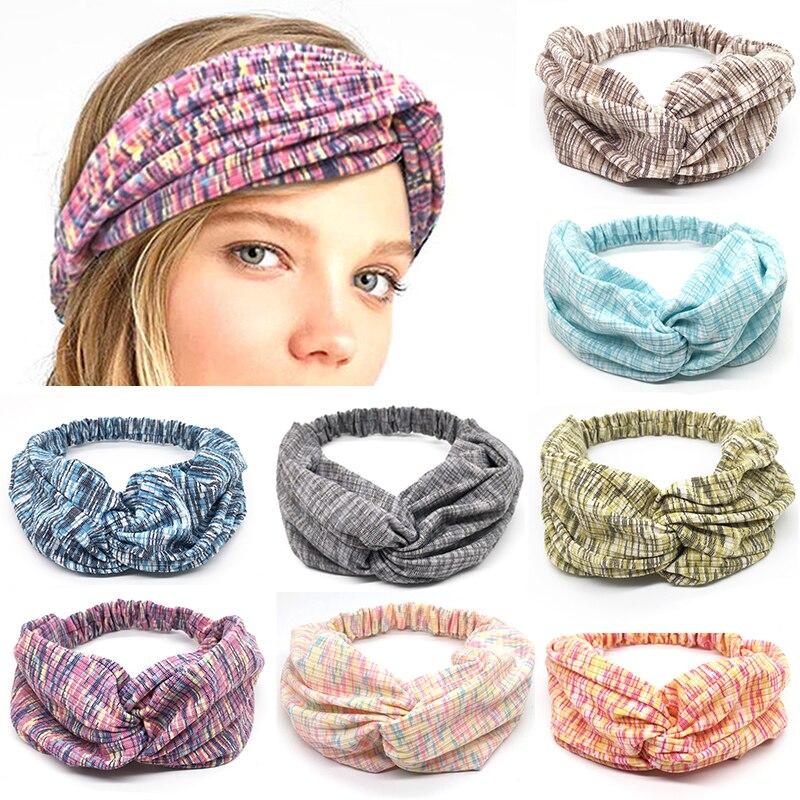 Fashion cotton hair band bohemian quality woman 39 s headband stretch turban headdress Trendy Bandana clothing hair accessories in Women 39 s Hair Accessories from Apparel Accessories
