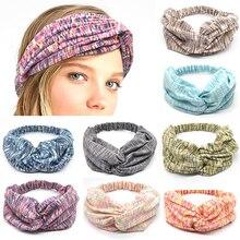 Fashion cotton hair band bohemian quality womans headband stretch turban headdress Trendy Bandana clothing accessories
