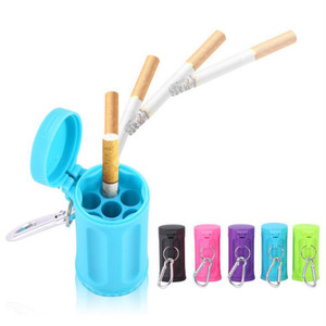 Image 1 - Durable Portable Mini Ashtray Pocket Ashtray Keychain Candy Color Car Ashtray Italy Outdoor Smoking Accessories Beach Ashtray