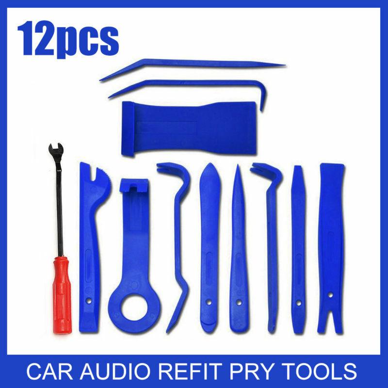 12pcs Auto Car Radio Door Clip Panel Trim Dash Audio Removal Installer Pry Tool