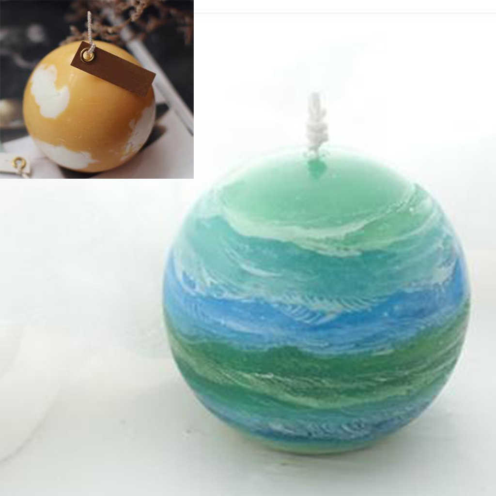 Hot Selling 30mm Clear Sphere Ball Candle Mould Soap Molds for Making Handmade Candle DIY Crafts Tool Birthday Gif
