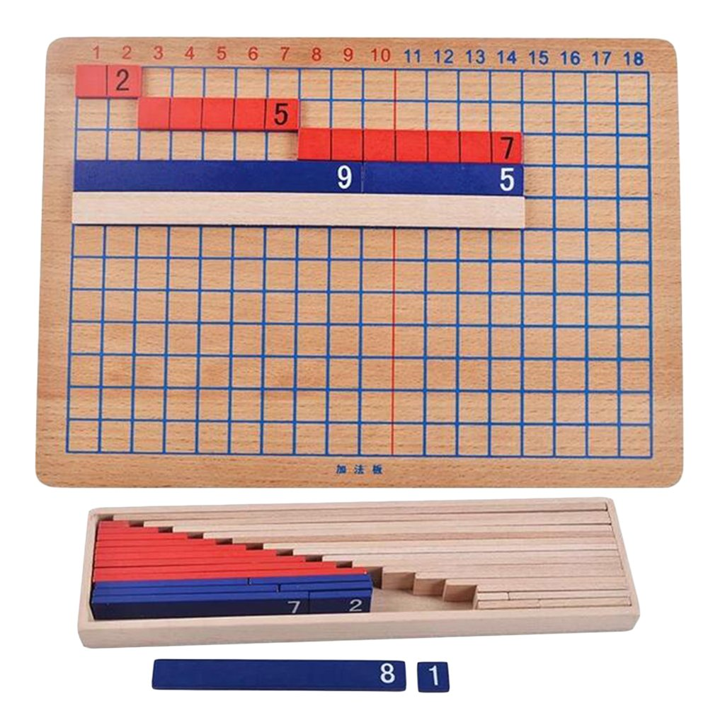Montessori Addition and Subtraction Board Wooden Math Exercise Toy Educational Family Game Kids Gift