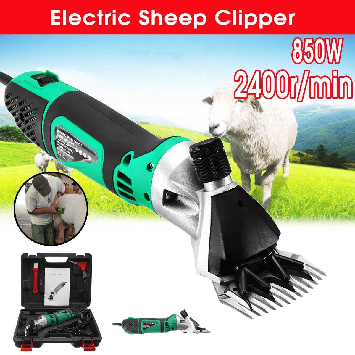 Doersupp 230V 850W Electric Sheep Shearing Clipper Scissors Set Shears Cutter Goat Clipper Machines 2400r/min AU/US Plug