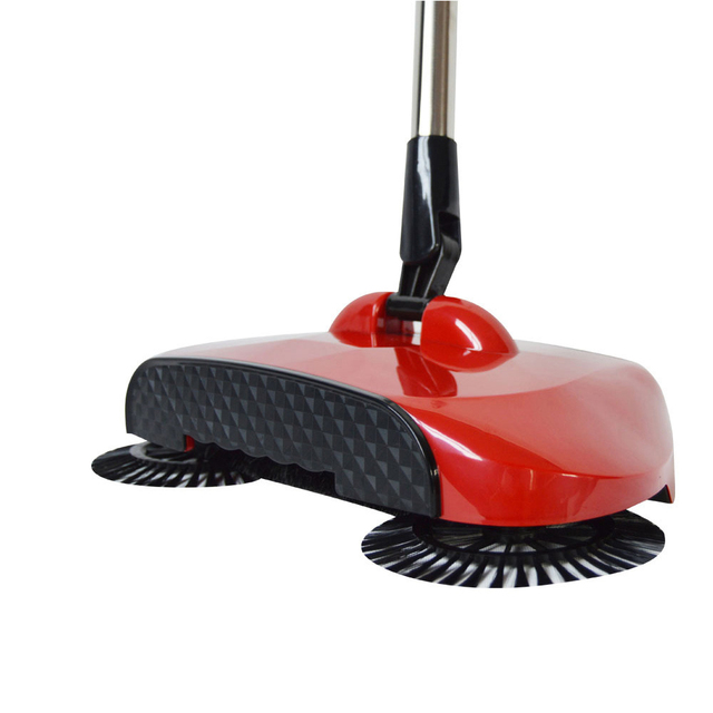 Automatic Hand Push Cleaning Sweeping Tool Without Electricity Household Lazy Sweeper Broom 360 Degree Rotating
