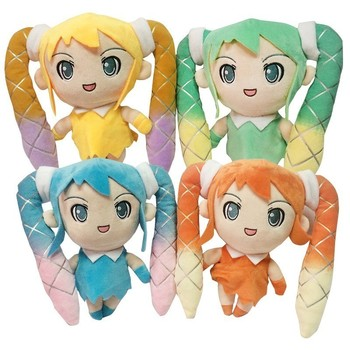 4 Styles 21cm Anime Plush Toy Fabric Plush Vocaloid Hatsune Miku Doll Cute Stuffed Toys For Children hatsune miku winter plush doll