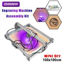 100x100cm 2500mW CNC DIY Desktop Mini Laser Engraving Machine Mini Desktop Wood Router Carving Cutting Printer Logi Mark for Win