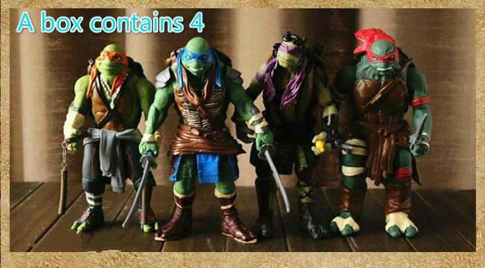 Funko поп новый смолы материал фильм версия ниндзя черепаха 4 шт. комплект может собрать Руководство Модель Коллекция подарок игрушечные лош