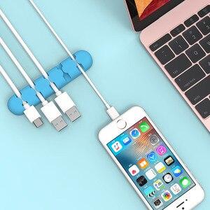 Image 4 - ORICO silicone CBS câble enrouleur bureau MP3 MP4 écouteur ligne de données USB chargeur pince à support de câbles gestion stockage organisateur