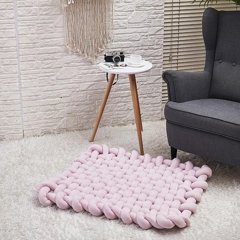 INS Style doux épais fil tricoté bébé tapis de jeu couverture tissage à la main accessoires Photo nordique enfants chambre lit canapé couverture décorative