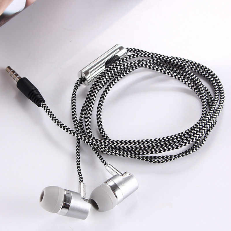 H-169 3.5 Mm MP3 MP4 Nối Dây Loa Siêu Trầm Dây Bện, Đa Năng Tai Nghe Nhạc Lúa Mì Điều Khiển Dây