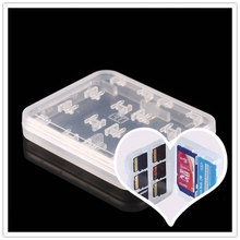 8 in 1 Plastic Box Protector Case For Micro TF Memory Card Storage Holder Hard Case Simple Style Case(China)