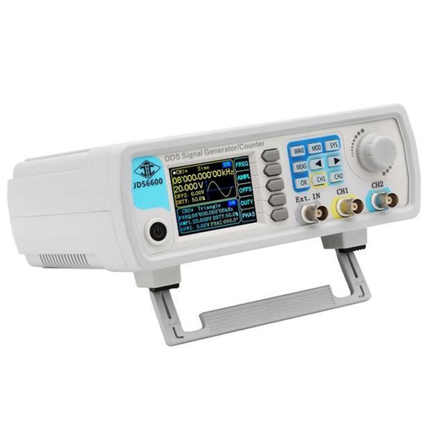 Enchufe europeo Jds6600 60M generador de señal de 60Mhz Control Digital función Dds de doble canal generador de señal medidor de frecuencia Arbitrar