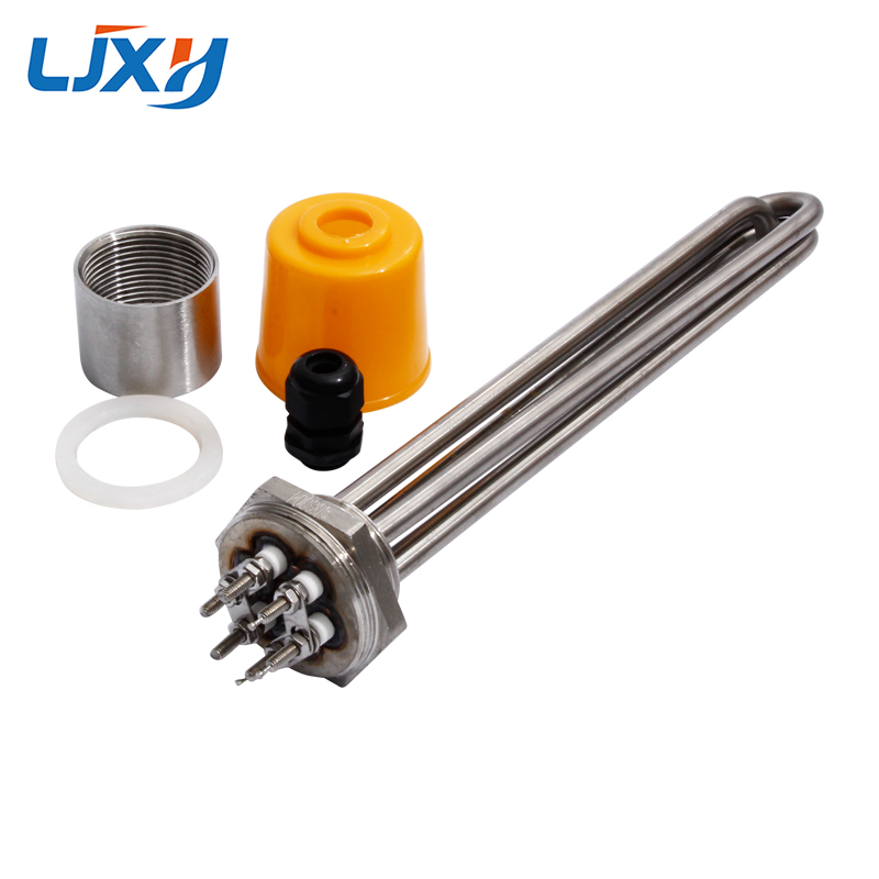 LJXH DN32 Electric Immersion Water Heater Heating Element With Interal Nut 304SUS Tube/Thread 220V/380V 3KW/4.5KW/6KW/9KW/12KW