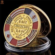 WW II 1944.6.6 D-Day 노르망디 전쟁 70 주년 기념 군대 도전 동전 수집품