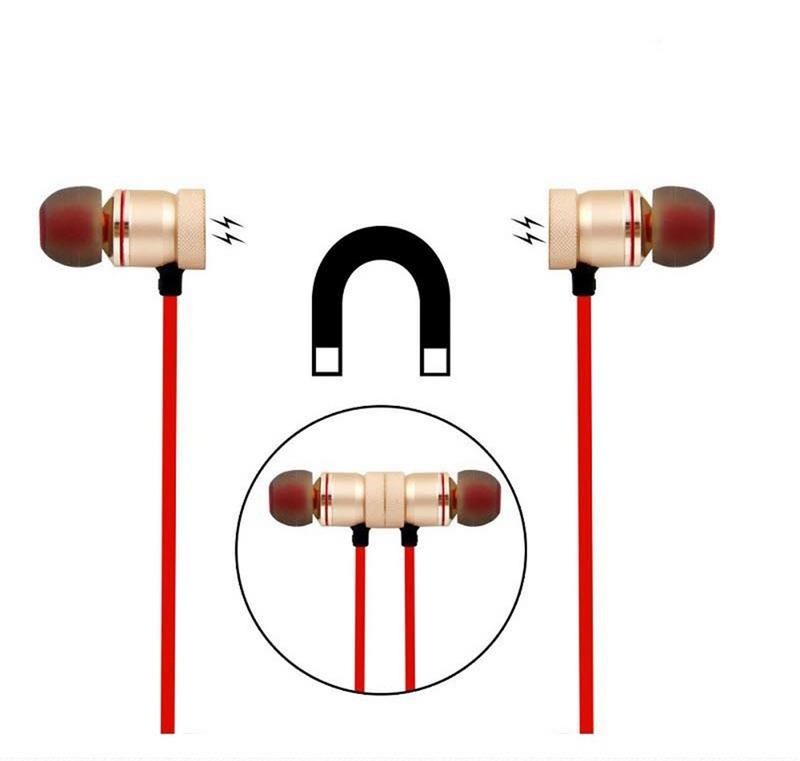 Image 4 - Portable Earphones Wireless Bluetooth Earbuds Sport Running HIFI Stereo Magnetic Devices With Mic Hands free Call For Phones-in Bluetooth Earphones & Headphones from Consumer Electronics