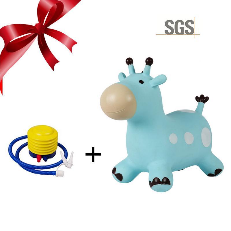 Cheval gonflable gonflable sautillant en caoutchouc sautant cheval à bascule chevauchée sur des jouets d'animaux en bas âge
