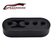 SPEEDWOW Универсальный Черный EPDM выхлопной трубы Крепление кронштейны вешалка изолятор автомобильные аксессуары 4 отверстия