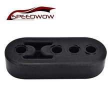 SPEEDWOW Universal Black EPDM Uitlaat Uitlaat Mount Beugels Hanger Isolator Automotive Accessoires 4 Gaten(China)