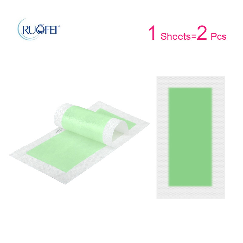 Hair Removal Wax Strips Papers Face Beard Body Professional Hair Remover Glue Small Double Sided Tape 2pcs=1sheets
