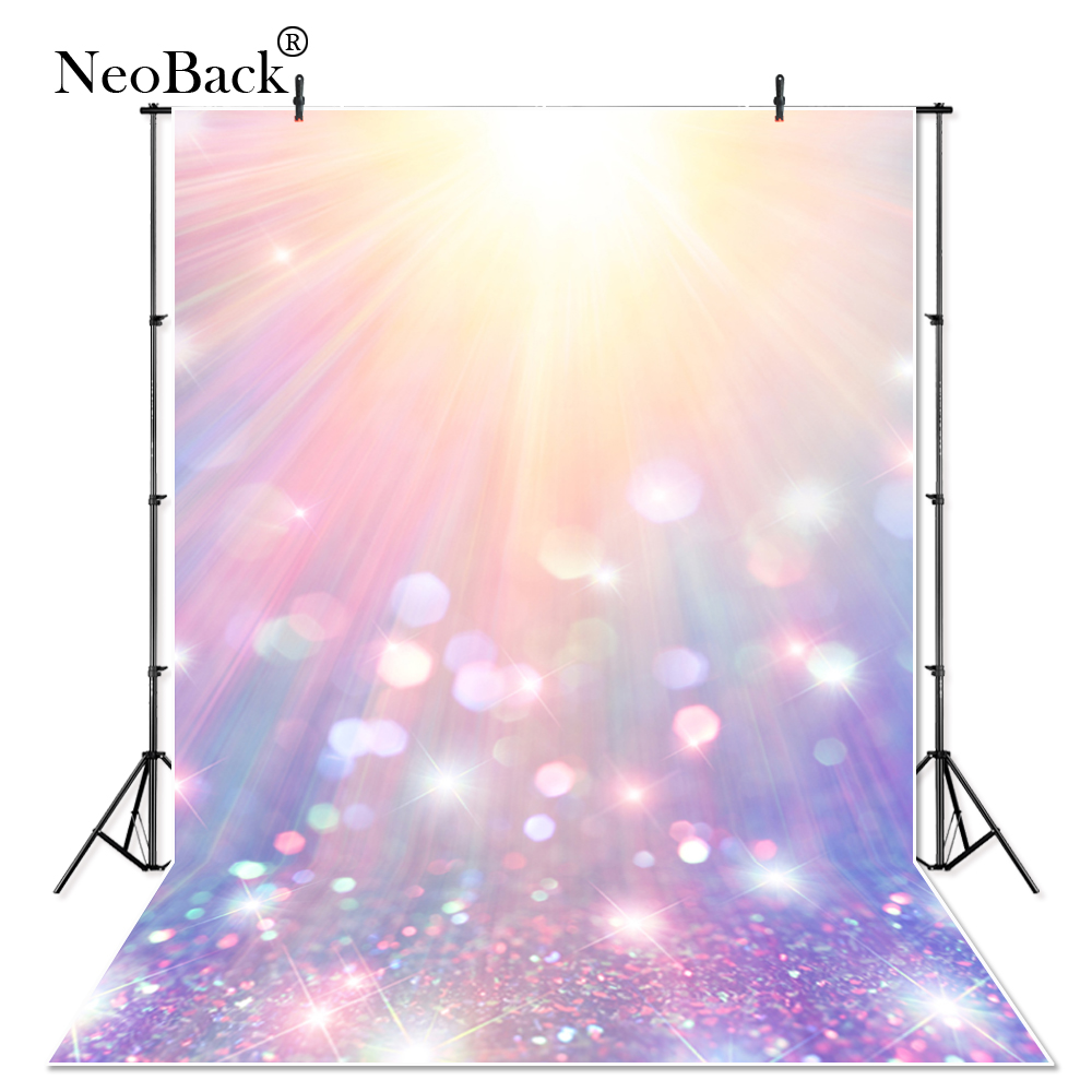 Thin vinyl bokeh pattern multi-color glitter children kids Photography Backdrop indoor professional Studio Photo backgrounds