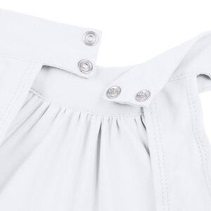Image 5 - Vestido de bailarina crianças sem mangas mock t neck collant para meninas vestido de balé com malha maxi saia louvor trajes de dança lírica