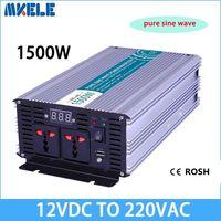 Inverter Max 2500 Watt 1500W 12 V to AC 220 110 Volt LCD Digital 1 USB Pure Sine Wave Converter Car Charge Converter Transformer