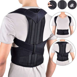 hirigin Mens Posture Back Waist Vest Trainer Corset Belt